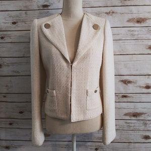 Magaschoni Ivory Tweed Blazer sz 8